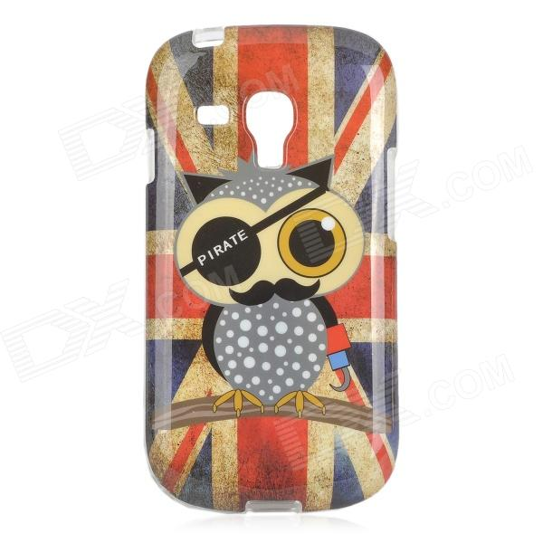 Owl Pirate UK National Flag Style TPU Back Case for Samsung Galaxy S3 Mini i8190 - Red + Blue cartoon owl style protective tpu back case for samsung galaxy s3 mini i8190 multicolor