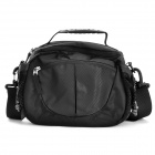 C1314 Outdoor Water Resistant Nylon Shoulder Bag for DSLR Camera - Black