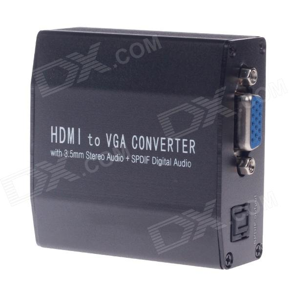 125-V0 HDMI to VGA / Audio / SPDIF Converter Adapter - Black