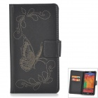Butterfly Style Protective PU Leather Case for Samsung Galaxy Note 3 N9006 / N9005 / N900 - Black