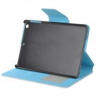 PU Leather Case Stand w/ Auto Sleep Cover / Card Slots for RETINA IPAD MINI - Pink + Light Blue