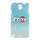 Cartoon Birds Style Protective TPU Back Case for Samsung Galaxy Note 3 N9000 - Sky Blue