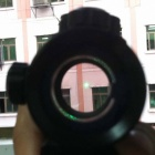 Tactical 1x30 Red / Green Dot Sight Scope w/ 20mm Weaver Mount - Black (1 x CR2032)