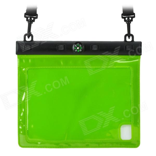 водонепроницаемый чехол overboard ob1086blk waterproof ipad case with shoulder strap Waterproof Protective Case w/ Compass + Strap for IPAD MINI / RETINA IPAD MINI - Green