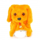 GWJ Cute Plush + Plastic Electric Dog - Yellow + White (2 x AA)