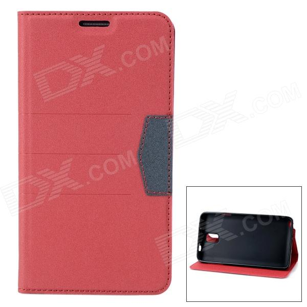 Protective PU Leather Case Cover Stand for Samsung Galaxy Note 3 N9000 - Red enkay protective tpu back case w holder stand for samsung galaxy note 3 n9000 pink