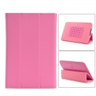 PU Leather Speaker Case w/ Rechargeable Battery for 7 Tablet PC - Pink
