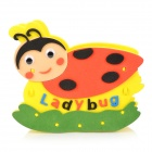 PCBT2 Cute Ladybug Pattern DIY Paper + EVA Pen Holder - Yellow + Dark Pink + Multicolored