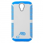 Protective TPU + PC Back Case for Samsung i9500 - Blue + White