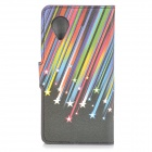 IKKI Meteor Pattern Protective PU Leather Case for LG Nexus 5 - Black + Multicolor