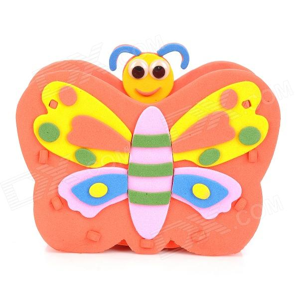 HD7 Butterfly Style EVA DIY Pen Holder - Orange + Yellow + Multicolored