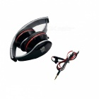 OVLENG A6 3.5mm Headband Headphone w/ Microphone for IPHONE 5 / 5C / 5 + More - Black + Red