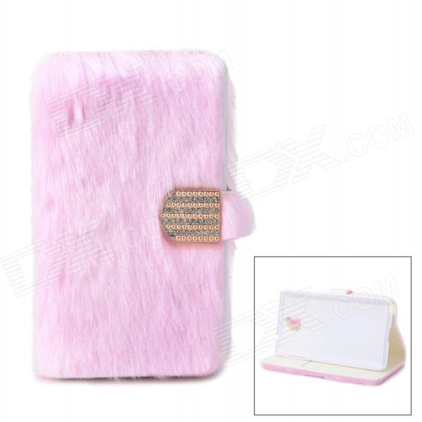 Protective Plastic + Fuzz Case Cover for Samsung Galaxy Note 3 N9000 - Pink enkay protective tpu back case w holder stand for samsung galaxy note 3 n9000 pink