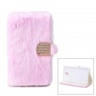 Protective Plastic + Fuzz Case Cover for Samsung Galaxy Note 3 N9000 - Pink