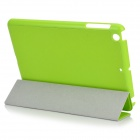 Protective PU Leather Flip-Open Case w/ Auto Sleep for iPAD Mini / Retina IPAD Mini - Green