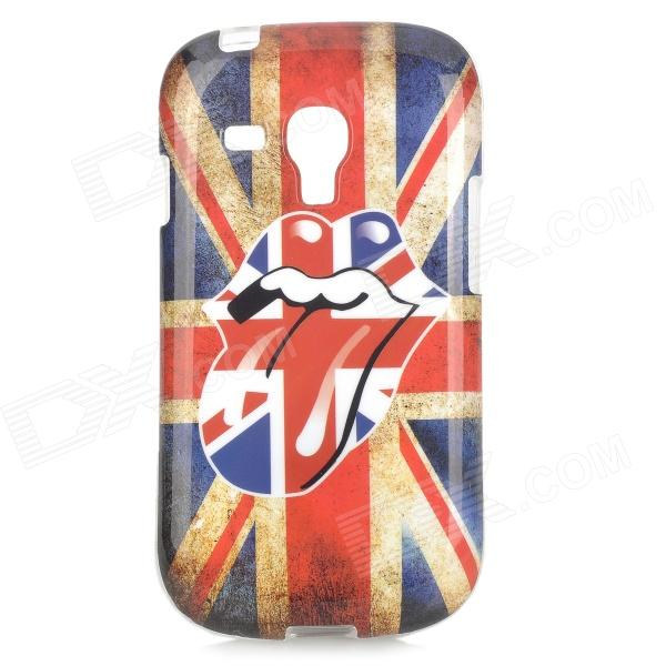 The Rolling Stones Logo UK National Flag Style TPU Back Case for Samsung Galaxy S3 Mini - Blue + Red rainbow style protective pc tpu back case for samsung galaxy s3 mini i1890 blue