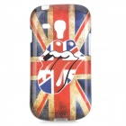 The Rolling Stones Logo UK National Flag Style TPU Back Case for Samsung Galaxy S3 Mini - Blue + Red