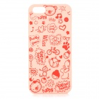 Cute Cartoon Style Protective Plastic Back Case for IPHONE 5 / 5S - Pink