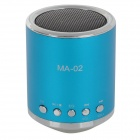 MA-02 Mini MP3 Speaker w/ TF / U-flash / FM - Blue