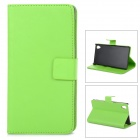 Protective PU Leather Case Cover Stand w/ Card Slot for Sony Xperia Z1 L39h - Green