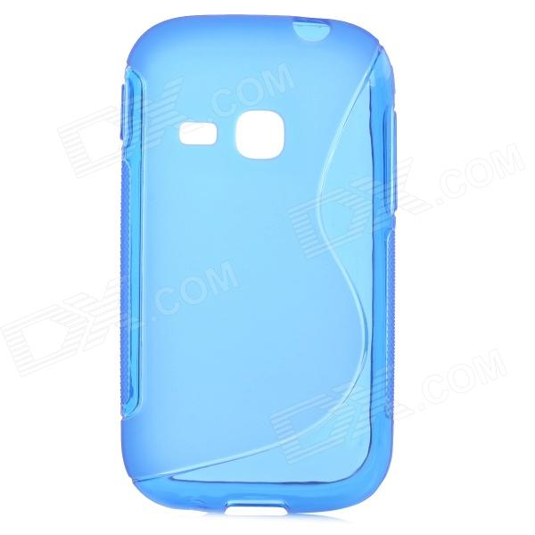 S Style Protective TPU Back Case for Samsung Galaxy Young S6310 - Blue young entrepreneur s gude to s