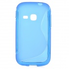 """S"" Style Protective TPU Back Case for Samsung Galaxy Young S6310 - Blue"