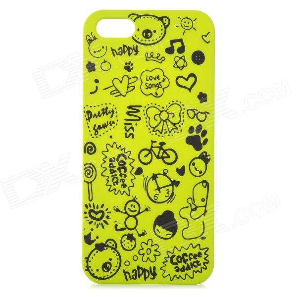 Protective Plastic Back Case for IPHONE 5 / 5S - Green + Black