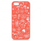 Cute Cartoon Style Protective Plastic Back Case for IPHONE 5 / 5S - Red + White