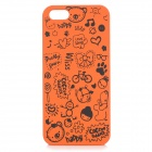 Cute Cartoon Style Protective Plastic Back Case for IPHONE 5 / 5S - Orange + Black