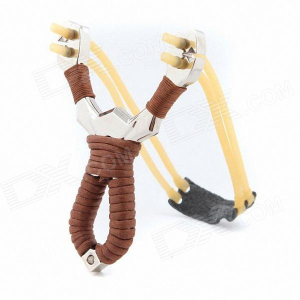 X08 Outdoor Shooting Slingshot - Brown + Silver