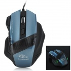 RH-1900 USB 2.0 Wired 800 / 1600 / 2400 / 3200dpi LED Gaming Mouse - Black + Blue