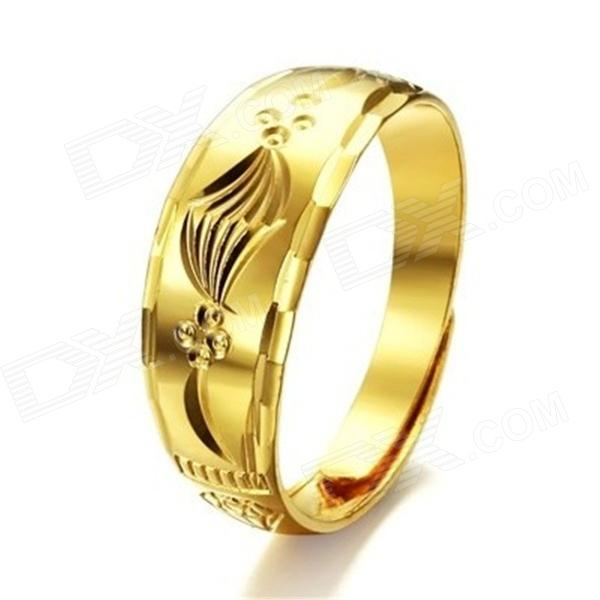 KJ003 18k Gold Plated Classic Women's Ring - Golden (Free Size)