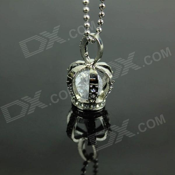 Stylish Crown Pendant Zinc Alloy Necklace - Silver