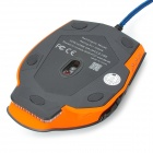 FC-5600 USB 2.0 filaire 3200 / 2400 / 1600 / 800dpi LED Gaming Mouse - Noir + Orange + multicolores
