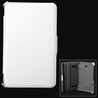 Protective Flip-open PU Leather Case for Asus 372 - White