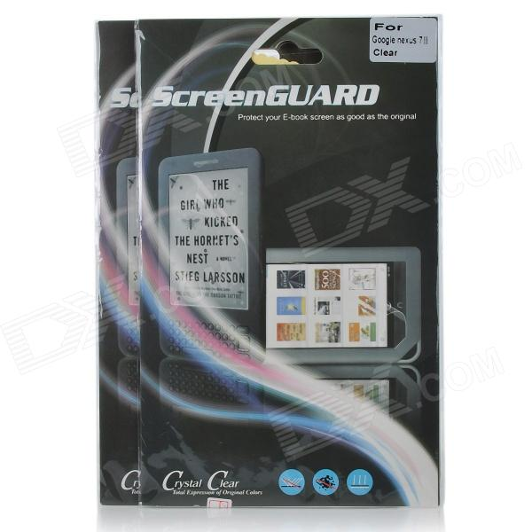 Professional Crystal Clear Screen Guard for Google Nexus II - Transparent (2 PCS)