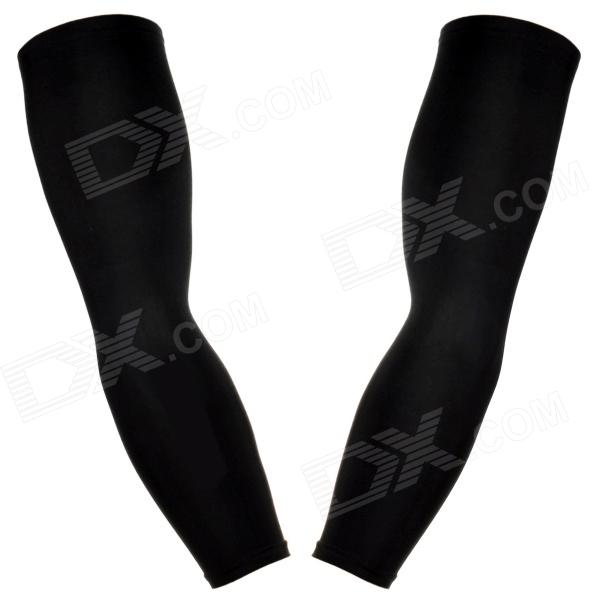 TOPCYCLING Recycling Sport Arm Elbow Support Oversleeve Arm Warmer - черный (размер L / пара)