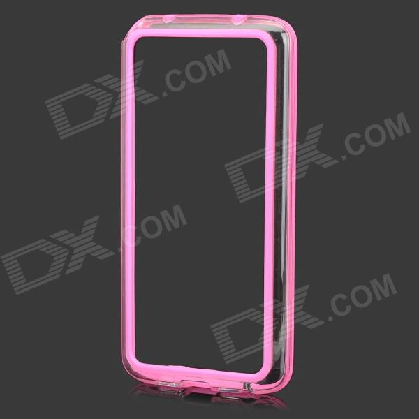 S-What Protective PC + TPU Bumper Case for LG G2 - Deep Pink + Transparent s what protective pc tpu bumper case for lg nexus 5 yellow black