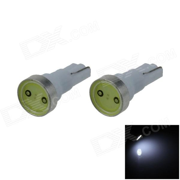 T5 1W 80lm 1*COB LED White Car Instrument Lamp (DC 12V / 2PCS)