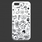 Cute Cartoon Style Protective Plastic Back Case for IPHONE 5 / 5S - White + Black
