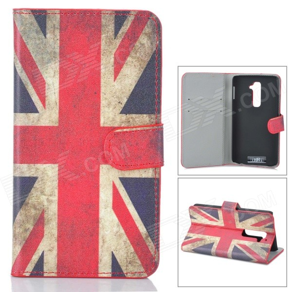 IKKI UK National Flag Style Protective PU Leather Case for LG Optimus G2 D802 - Red + Blue protective flip open pu leather case for lg optimus g2 d802 f320 black