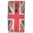 IKKI UK National Flag Style Protective PU Leather Case for LG Optimus G2 D802 - Red + Blue