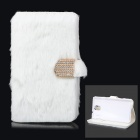 Protective Plastic + Fuzz Case Cover for Samsung Galaxy Note 3 N9000 - White