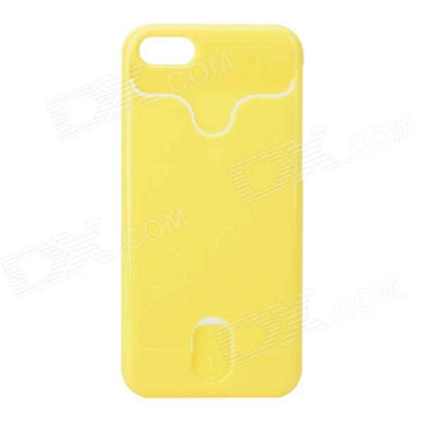 Protective Plastic Back Case w/ Card Slots for IPHONE 5C - Yellow