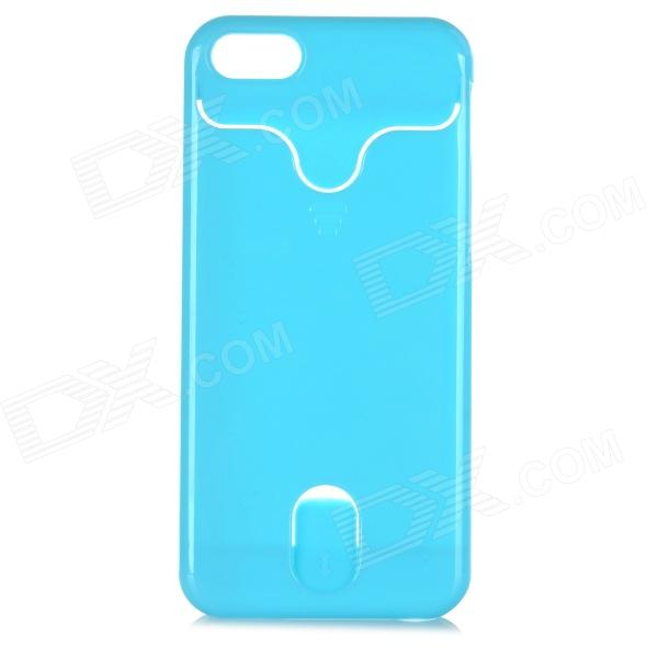 Protective Plastic Back Case w/ Card Slot for IPHONE 5C - Blue
