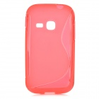 """S"" Style Anti-Slip Protective TPU Back Case for Samsung Galaxy Young S6310 - Red"