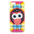 Cute Owl Style Protective Plastic Back Case for IPHONE 5 / 5S - Red + Yellow + Blue