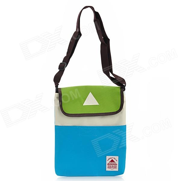 Fashion Oxford Fabric Shoulder Bag for Tablet PC - Blue + Green