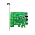 IOCREST IO-PCE9170-2IR PCI-Express to 2x Internal SATA III (6Gb/s) RAID Controller Card - Green