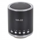 MA-02 Mini MP3 Speaker w/ TF / U-flash / FM - Black